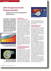 35% Energieersparnis mit  Frequenzumrichter: Gasbrenner mit drehzahlgeregeltem  Gebläsemotor