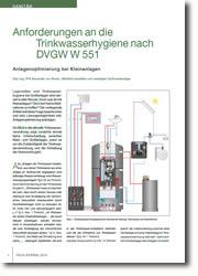 Trinkwasser - Anlagenoptimierung bei Kleinanlagen