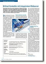 BACnet Controller mit integriertem  Webserver: Direkter Zugriff via Internet