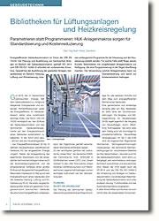 Parametrieren statt Programmieren: HLK-Anlagenmakros sorgen für Standardisierung und Kostenreduzierung