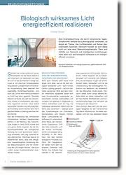 Planungsbesonderheiten beim Einsatz von biologisch wirksamen Licht