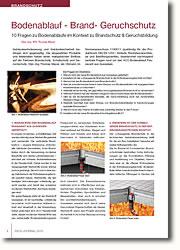10 Fragen zu Bodenabläufen im Kontext zu Brandschutz, Geruchsbildung, Schallschutz und Montagefreundlichkeit