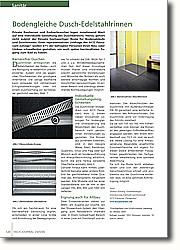 Bodengleiche Dusch-Edelstahlrinnen: Barrierefrei Duschen