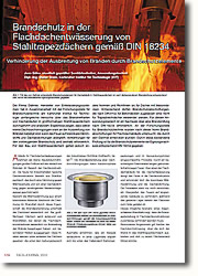 Verhinderung der Ausbreitung von Bränden durch Brandschutzelemente