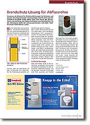 Brandschutz-Lösung für Abflussrohre: Platz-sparende und flexible Montage