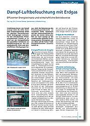 Dampf-Luftbefeuchtung mit Erdgas: Effizienter Energieeinsatz und wirtschaftliche Betriebsweise