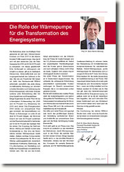 Die Rolle der Wärmepumpe für die Transformation des Energiesystems