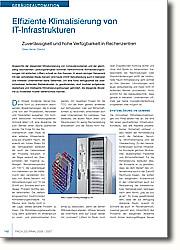 Angesichts der steigenden  Miniaturisierung von Computersystemen  und der gleichzeitig wachsenden  Leistungsfähigkeit kommen herkömmliche  Klimatisierungslösungen mit einfachen  Lüftern schnell an ihre Grenzen. In  einem einzigen Serverrack mit den  verbreiteten Blade-Servern sind heute  20 kW Verlustleistung auch in kleineren  und mittleren Unternehmen keine  Seltenheit. Um eine hohe Verfügbarkeit  bei überschaubaren laufenden  Betriebskosten zu gewährleisten, sind  modular aufgebaute, skalierbare und  intelligente Klimatisierungslösungen  gefordert, die steigende Abwärme zu  moderaten Kosten beherrschbar machen.