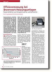 Effizienzmessung bei Brennwert- Heizungsanlagen: Neues Verfahren zum Vergleich von Ist-und Sollwerten