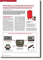 Einbindung von Druckhalteautomaten in moderne Kommunikationsnetzwerke: Zusätzliche Steuerungsmodule  erleichtern die Kommunikation innerhalb des Systems