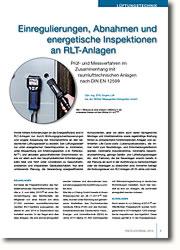 EnergieeinsparPrüf- und Messverfahren im Zusammenhang mit raumlufttechnischen Anlagen nach DIN EN 12599