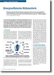 Vor dem Hintergrund der politischen und gesetzlichen Rahmenbedingungen wie der  EU-Richtlinie zur Endenergieeffizienz  und zu Energiedienstleistungen oder der ab 2006 gültigen EU-Richtlinie für die Gesamtenergieeffizienz von Gebäuden nimmt das Thema Energieeffizienz auch in der Kältetechnik einen immer höheren  Stellenwert ein. Die Kälte- und  Klimabranche kann und muss durch  energieeffiziente Kälte- und  Klimaanlagen einen signifikanten  Beitrag zur Energieeinsparung leisten.