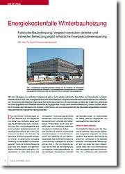 Fallstudie Baubeheizun: Vergleich zwischen direkter und indirekter Beheizung ergibt erhebliche Kosteneinsparung