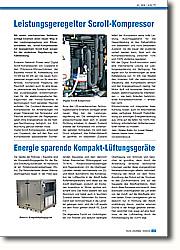 Energie sparende Kompakt-Lüftungsgeräte: Platz sparende Bauweise und dennoch hoher thermischer Wirkungsgrad