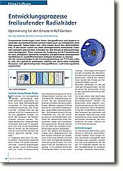 Entwicklungsprozesse freilaufender  Radialräder: Optimierung für den Einsatz in RLT-Geräten