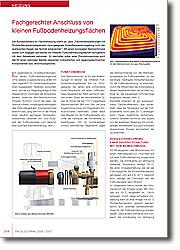 Fachgerechter Anschluss von kleinen  Fußbodenheizungsflächen: Vergleichsrechnung einer Drosselschaltung mit dem Beimischmodul