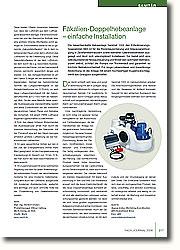 Die neuentwickelte Hebeanlage Sanimat 1002 des Entwässerungs- Spezialisten ABS ist für die Rückstausicherung und Abwasserentsorgung in Zweifamilienhäusern sowie kleineren Gewerbebetrieben ausgelegt und lässt sich unkompliziert installieren.