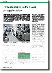 Fettabscheider in der Praxis: Bemessung und Tipps zum Einbau. Mit der Einführung der DIN EN 1825  haben sich die Bemessung und der Einbau von Fettabscheideranlagen grundlegend  geändert.
