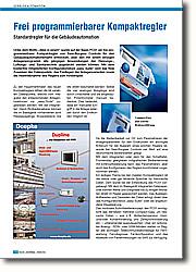"""Frei programmierbarer Kompaktregler: Standardregler für die Gebäudeautomation. Unter dem Motto """"Alles in einem"""" wurde auf der Basis PCS1 ein frei programmierbarer Kompaktregler von Saia-Burgess Controls für den Gebäudeautomationsmarkt entwickelt, über den mit einem einzigen Anlagenprogramm alle gängigen Anwendungen der Heizungs-, Lüftungs-und Sanitärtechnik abgedeckt werden können."""
