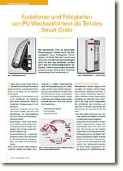 Die Aufgaben von PV-Wechselrichtern - Normen und Anforderungen haben sich bereits verändert und ändern sich weiter.