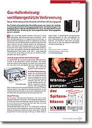 Gas-Hallenheizung: ventilatorgestützte Verbrennung - Neue Wärmetauschermodule erhöhen Wirkungsgrad
