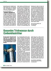Gesundes Trinkwasser durch  Carbonblockfilter: Reaktion auf gestiegene  Verbraucheranforderungen