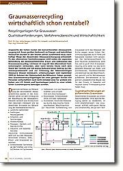 Recyclinganlagen für Grauwasser:  Qualitätsanforderungen, Verfahrensübersicht und deren Wirtschaftlichkeit.