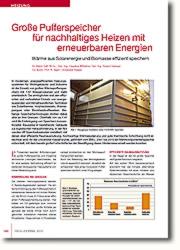 Wärme aus Solarenergie und Biomasse effizient speichern