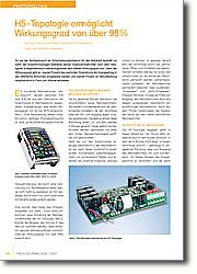 H5-Topologie ermöglicht Wirkungsgrad von über 98% - für den Anlagenbetreiber rentabel