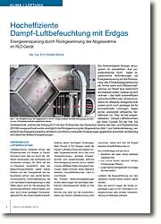 Energieeinsparung durch Rückgewinnung der Abgaswärme im RLT-Gerät
