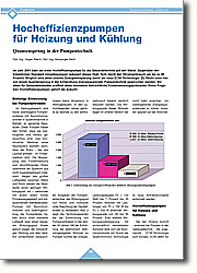 Hocheffizienzpumpen für Heizung und Kühlung: Quantensprung in der Pumpentechnik. Gegenüber herkömmlichen Standard-Umwälzpumpen reduziert dieses High-Tech-Gerät den Stromverbrauch um bis zu 80 Prozent. Möglich wird diese enorme Energieeinsparung durch die neue ECM-Technologie. Zu Recht kann hier von einem Quantensprung in der Entwicklung energiesparender Pumpentechnik gesprochen werden.