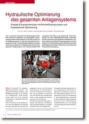 Energie-Einsparpotenziale mit Hocheffizienzpumpen und hydraulischer Optimierung