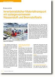 Das Pilotprojekt HyLOG (Hydrogen Powered Logistic System) - Ziel dieses Vorhabens war die Realisierung einer emissionsfreien und effizienteren innerbetrieblichen Logistik in einem realen industriellen Anwendungsumfeld.