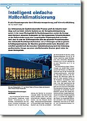 Intelligent einfache Hallenklimatisierung: Exakte Raumtemperatur durch Betonkerntemperierung und Schwerkraftkühlung