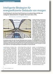 Smart Building für die Zukunft als Produkt aus innovativem Bauen (PCM) und intelligenter Gebäudetechnik mit digitaler Raumautomation (TRA)