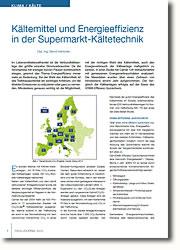 Analyse der gemessenen Energieverbrauchsdaten in 126 Verbundkälteanlagen von deutschen Verkaufsmärkten.