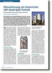 Klimatisierung mit dezentraler  VRF-Multi-Split-Technik: Was versteht man unter dieser Technik?