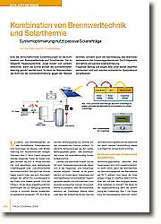 Eine der wirtschaftlichsten Systemlösungen ist die Kombination von Brennwerttechnik und Solarthermie.