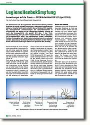 Legionellenbekämpfung: Auswirkungen auf die Praxis - DVGW  Arbeitsblatt W 551