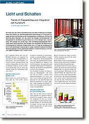 Licht und Schatten: Trends im Fassadenbau zur Integration von Kunstlicht