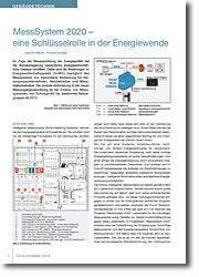 Intelligente Messsysteme (Smart Metering) wichtiger Faktor bei der Energiewende.