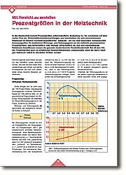 Mit Vorsicht zu genießen Prozentgrößen in der Heiztechnik: Nicht vergleichbare Prozentgrößen