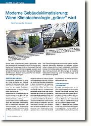 Lüftungs- und Klimasystem für einzelne Stockwerke und biologischer Hilfe.