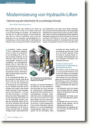 Optimierung der Liftantriebe für zuverlässigen Einsatz