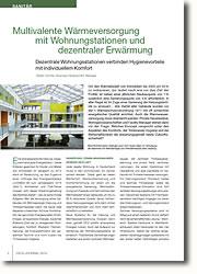 Dezentrale Wohnungsstationen verbinden Hygienevorteile mit individuellem Komfort