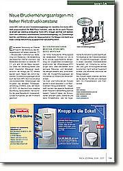 Neue Druckerhöhungsanlagen mit hoher Netzdruckkonstanz: Bei den Prüfkriterien weist die Hydro MPC beste Werte auf