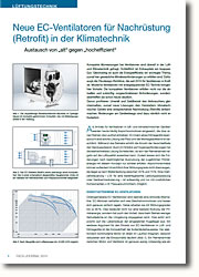 Ventilatoren mit energieeinsparender EC-Technik