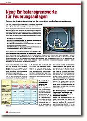 Neue Emissionsgrenzwerte für  Feuerungsanlagen: Einfluss der Druckgeräterichtlinie auf  die Konstruktion von  Großwasserraumkesseln