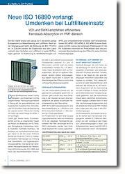 VDI und SWKI empfehlen effizientere Feinstaub-Absorption im PM1-Bereich