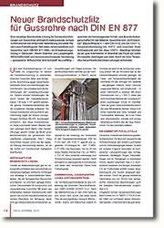 Isolierung von Gussrohren in den Feuerwiderstandsklassen R 90 bis R 120 nach DIN 4102-11